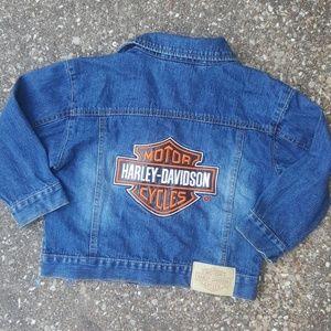 Harley Davidson Motorcycles Girls Jean Jacket 5